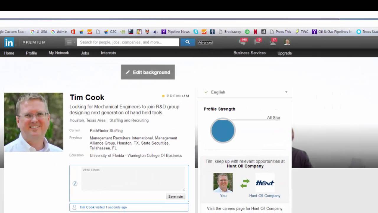 search linkedin public profiles with google youtube