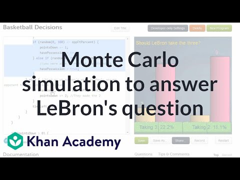Monte Carlo Simulation To Answer LeBron's Question