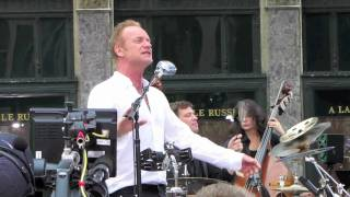 "Sting performs ""Englishman In New York"" live in NYC Video"