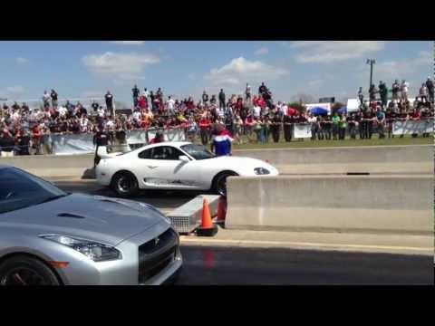 8 sec.Supra vs GT-R  vs EVO TX2k13