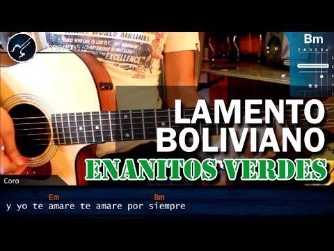 """Cómo tocar """"Lamento Boliviano"""" de Enanitos Verdes en Guitarra Acústica COMPLETO (HD) - christianvib"""