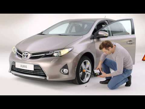 How to use the tyre repair kit on your Toyota.