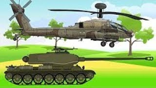 Vehicles & Military Machines, Helicopters, Cars, Tank | Colorful Video For Kids