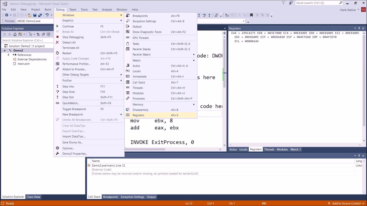 Assembly Tutorial: Assembling Your First Assembly Program Using Visual  Studio 2017