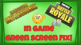 PUBG and Fortnite Green Screen fix! NVIDIA Settings
