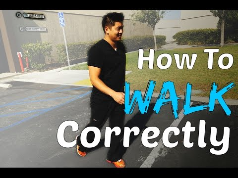 Physical Therapist Shows How To Walk Correctly