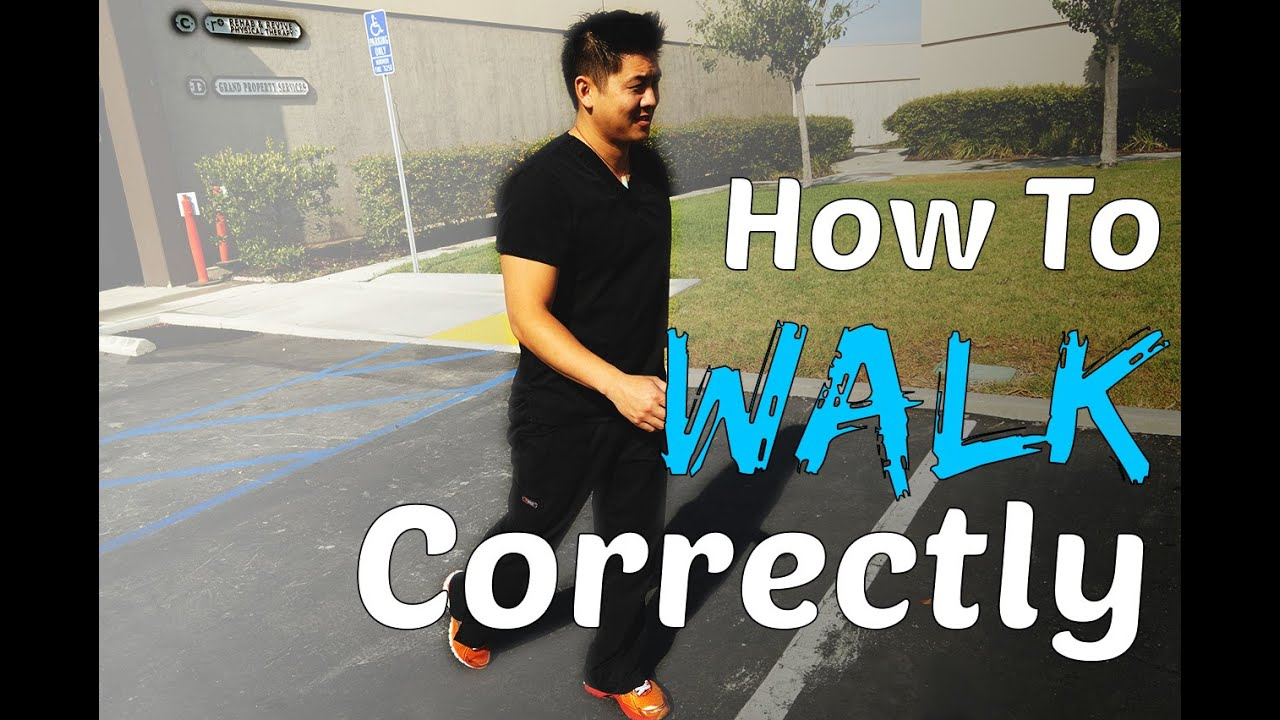 2b82bdb1011 Physical Therapist Shows How To Walk Correctly