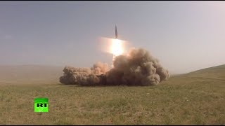 «Искандеры» в действии  комплекс впервые произвёл пуск ракет за пределами России