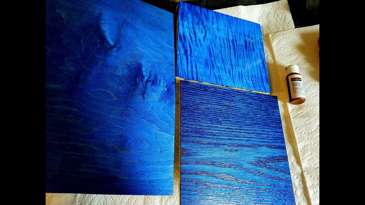 Etonnant Using Wood Dyes On Maple And Oak   Blue Dye   Blue Wood Stain   YouTube