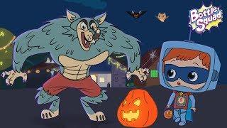 Its Halloween Night | Scary Rhymes |  Videos Bottle Squad | Halloween Rhymes | Superhero Songs