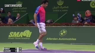 Andy Murray Vs Nicolas Almagro Qatar Open Doha 2017 QF (Highlights HD)