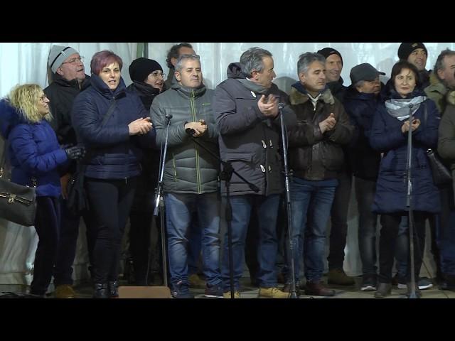 Gambatesa 318^ edizione maitunat 1-1-2018: squadra i sbandat di Mario Di Renzo