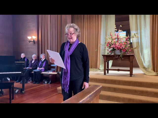 03/08/20 (1 of 3 Service clips) Liturgist Joan Glas, International Women's Day, Welcome to Worship