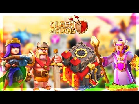 Clash Of Clans DÉCOUVRE MON VILLAGE HDV 10 !