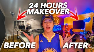 24 Hours ROOM Makeover Challenge! (Transformation!) | Ranz and niana