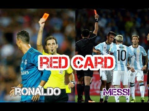 All Red Card Cristiano Ronaldo Lionel Messi Youtube