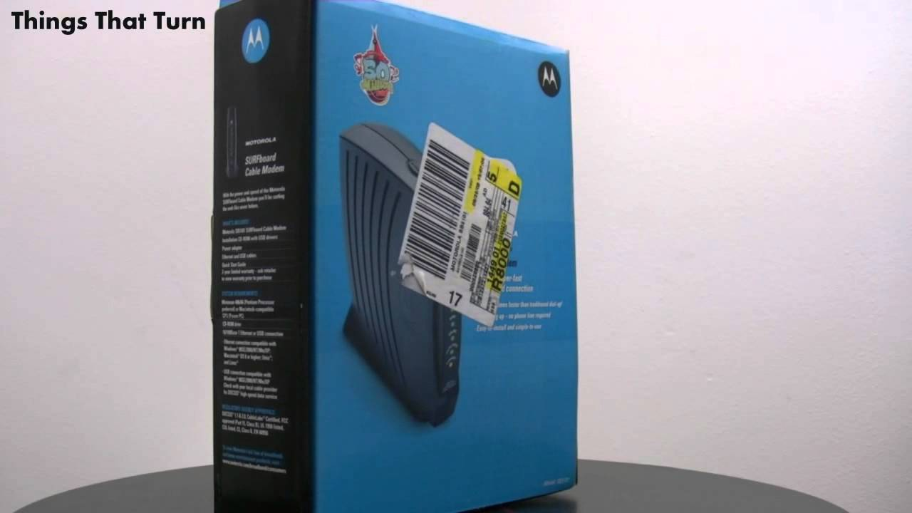 Motorola SB5101 SURFboard Cable Modem in a Box 2007 _ My Video ...