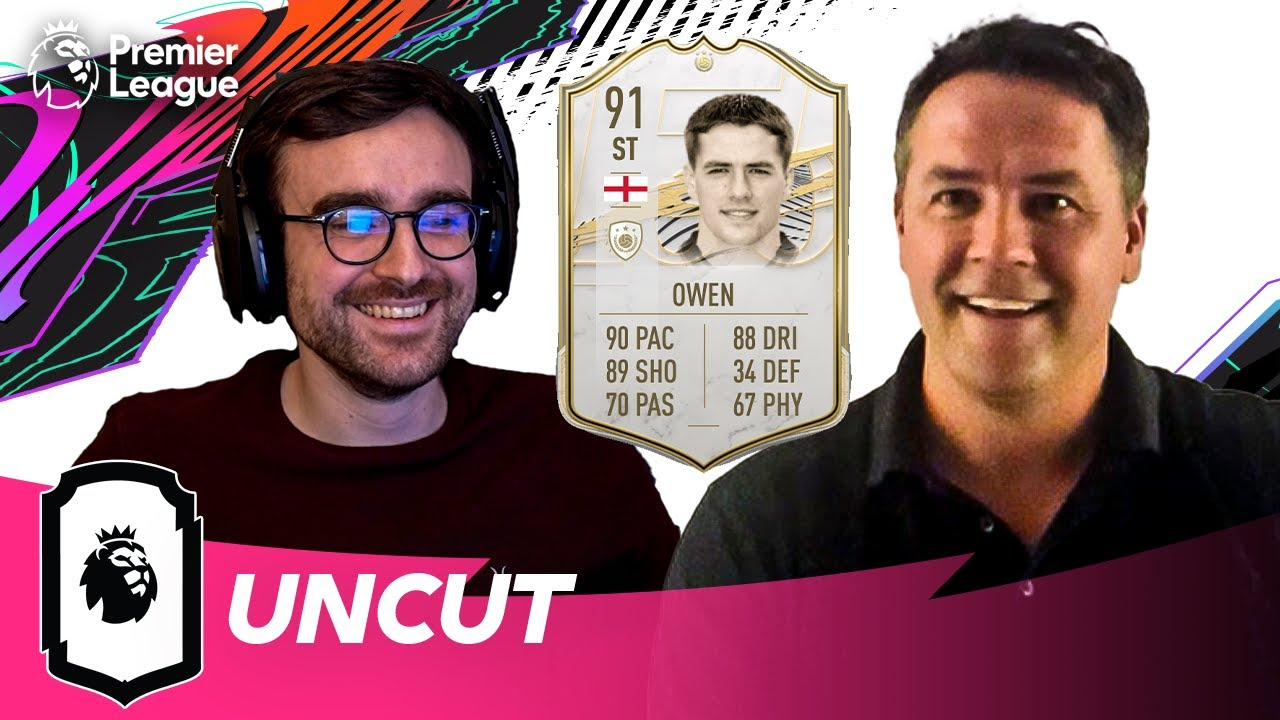 Michael Owen reacts to his FIFA 21 Icon Rating ft. AJ3 | Uncut | AD
