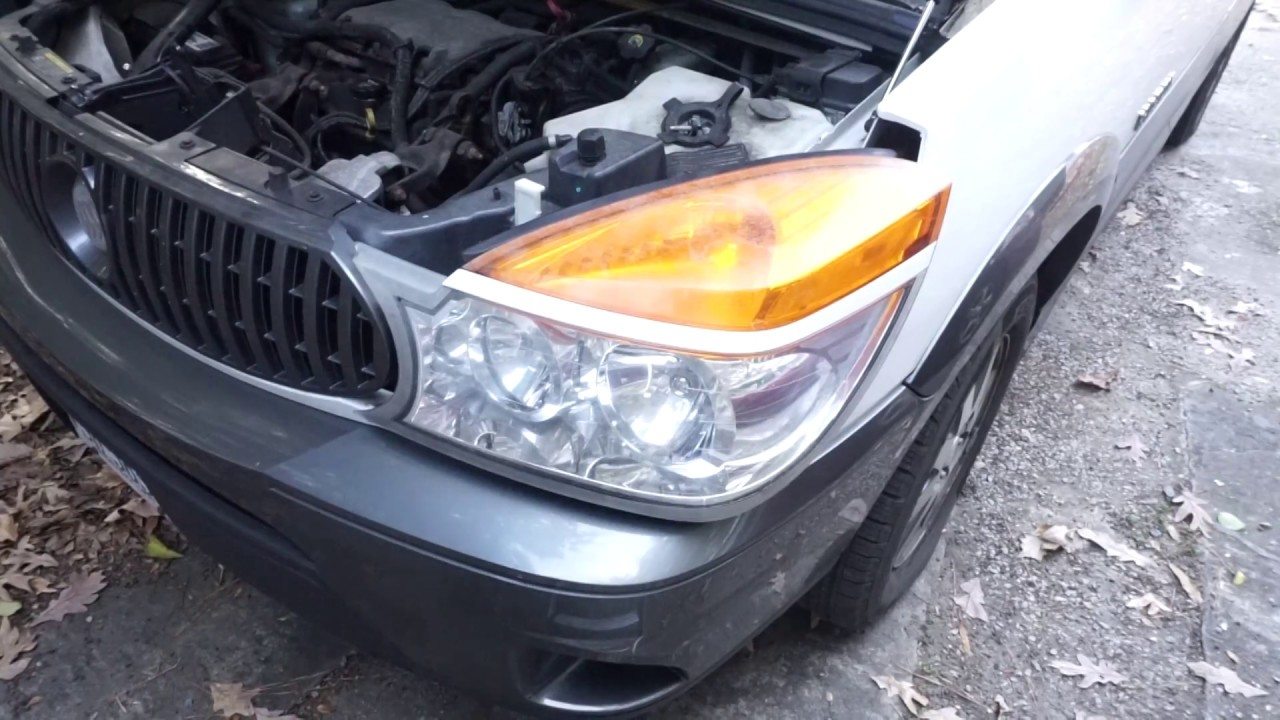 hight resolution of how to replace a headlight bulb on a 2003 buick rendezvous