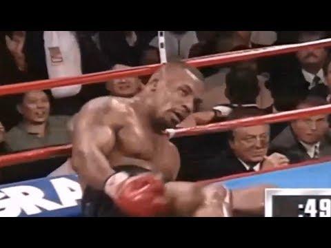 泰森惨遭5次世界重量级拳王击倒,泰森被打到无法还手失去WBA拳王