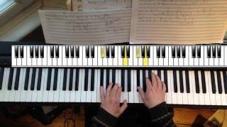 A Case Of You - James Blake Version - Piano Tutorial