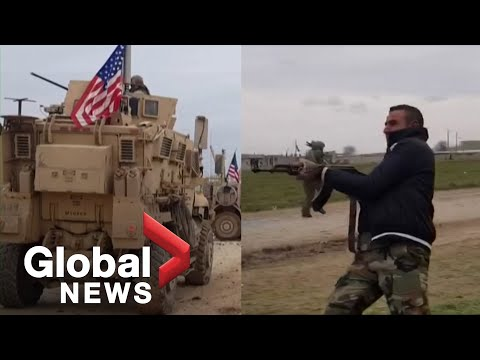 Video Shows U.S. Troops Under Fire At Checkpoint In Syria During Clash With Locals