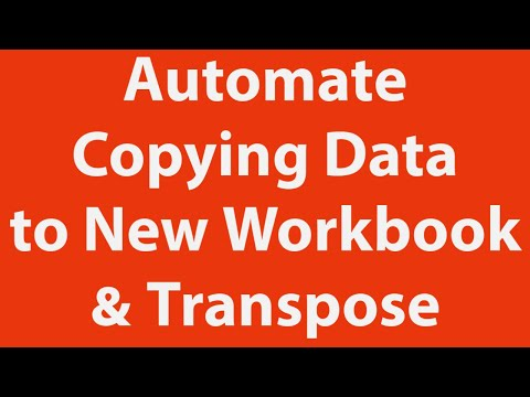 Copy Data Paste Another Workbook Transpose Automati Using Excel Vba