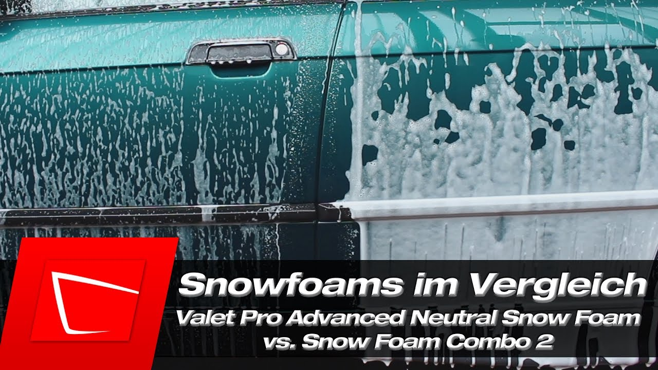 Valet Pro Advanced Neutral Snow Foam vs. Combo 2 - Snow Foams ...