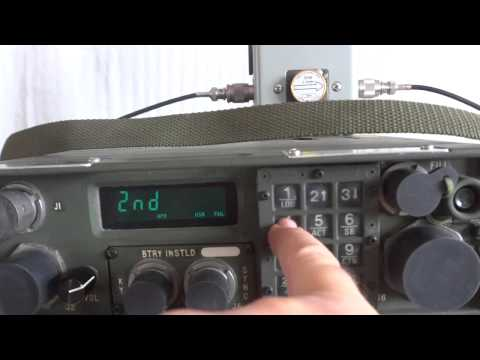 Military radio RT-1511/GRC 215 man pack and vehicular HF SSB transceiver