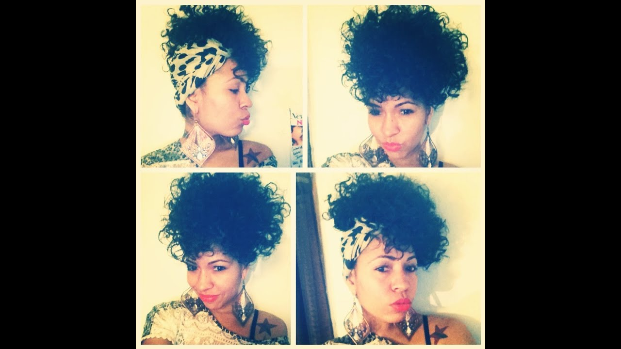 Natural Hair | Easy scarf side or front poof hairstyle ...