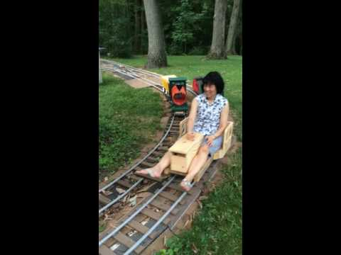 ride on garden railroad for adults and children