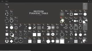 Motion Periodic Table - Animation Inspiration