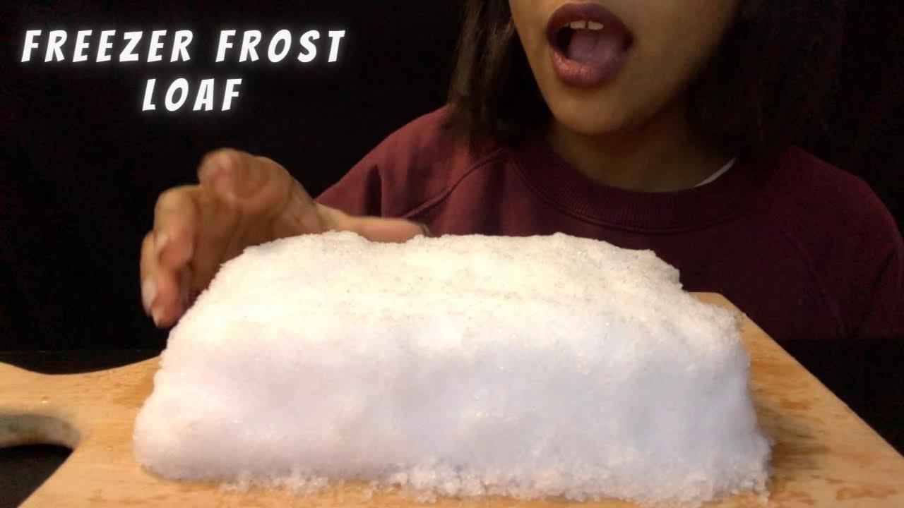 FREEZER FROST LOAF| ICE LOAF| ASMR ICE EATING| กินน้ำแข็ง | ăn đá | 얼음 먹기 氷を食べる