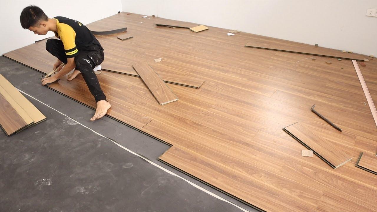 Hardwood Floor Install Process - How To Line The Wooden Floor For Bedroom