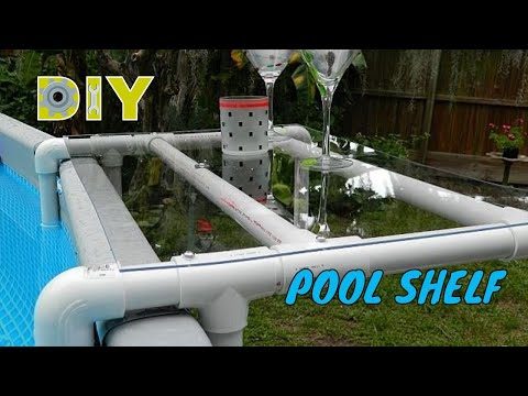 Diy Pool Shelf For An Above Ground Pool Diy Youtube