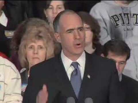 Senator Bob Casey Jr Endorses Obama