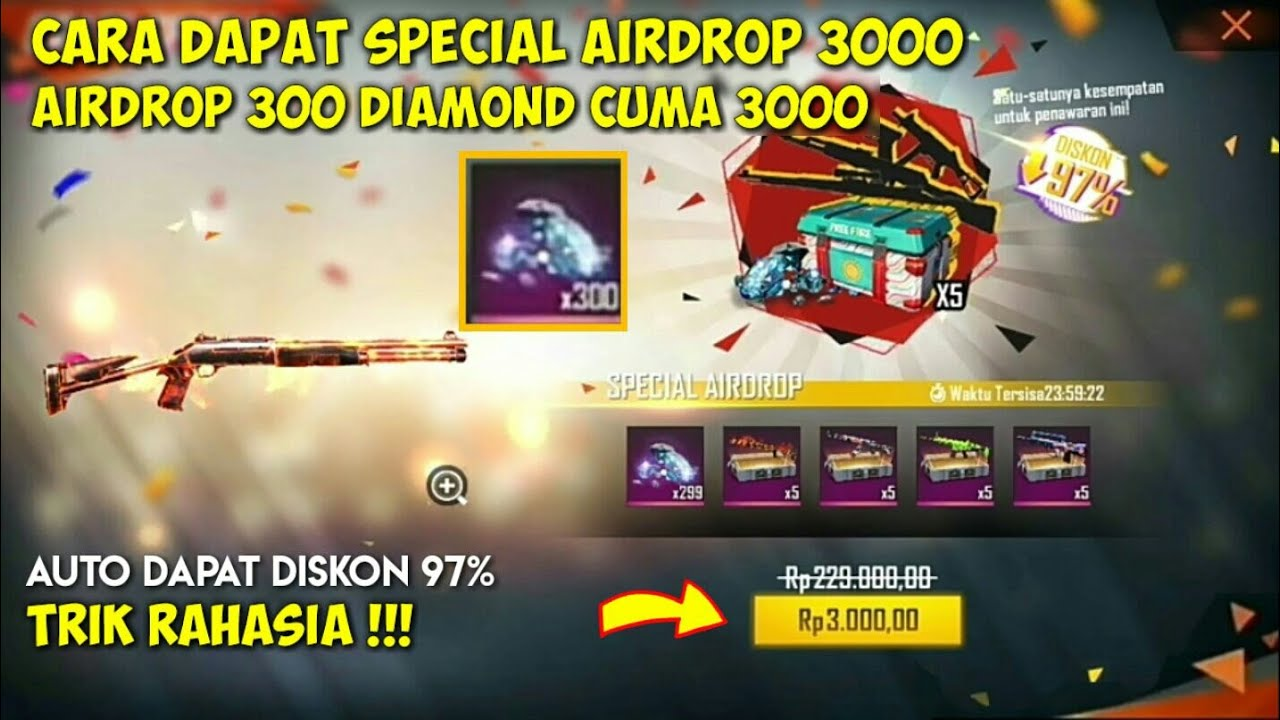 Cara Mendapatkan Spesial Airdrop 3000 Ff Setiap Hari Bug Special Airdrop Ff 3000 Terbaru 2021 Youtube