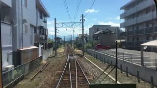 伊豆箱根鉄道駿豆線 前面展望 大場~伊豆仁田 Izuhakone Railway Sunzu Line Daiba Station to Izunitta Station (2017.9)