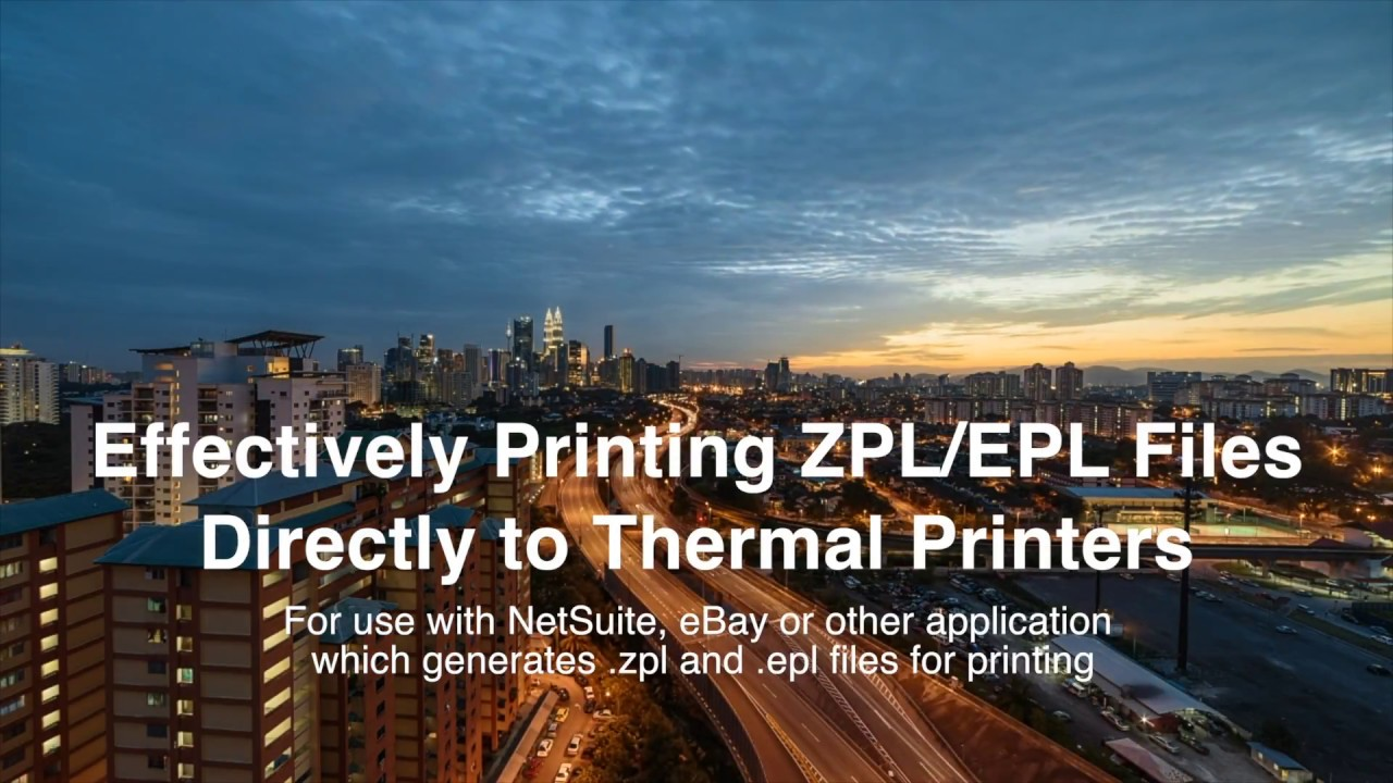 Direct Printing EPL & ZPL Files to Thermal Printer