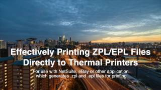 Direct Printing EPL & ZPL Files to Thermal Printer