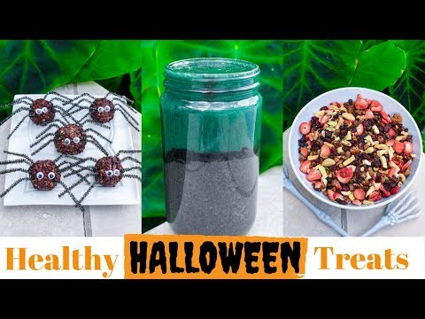 Healthy Halloween Recipes! FullyRaw Vegan Treats!
