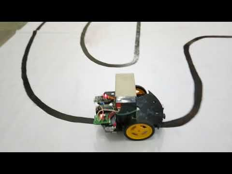Line follower robot 1st rank{HJD Institute-kera}