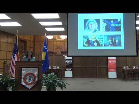 """The Leadership Roles of Women in Transitional States"" Kosovo Ambassador Teuta Sahatqija"