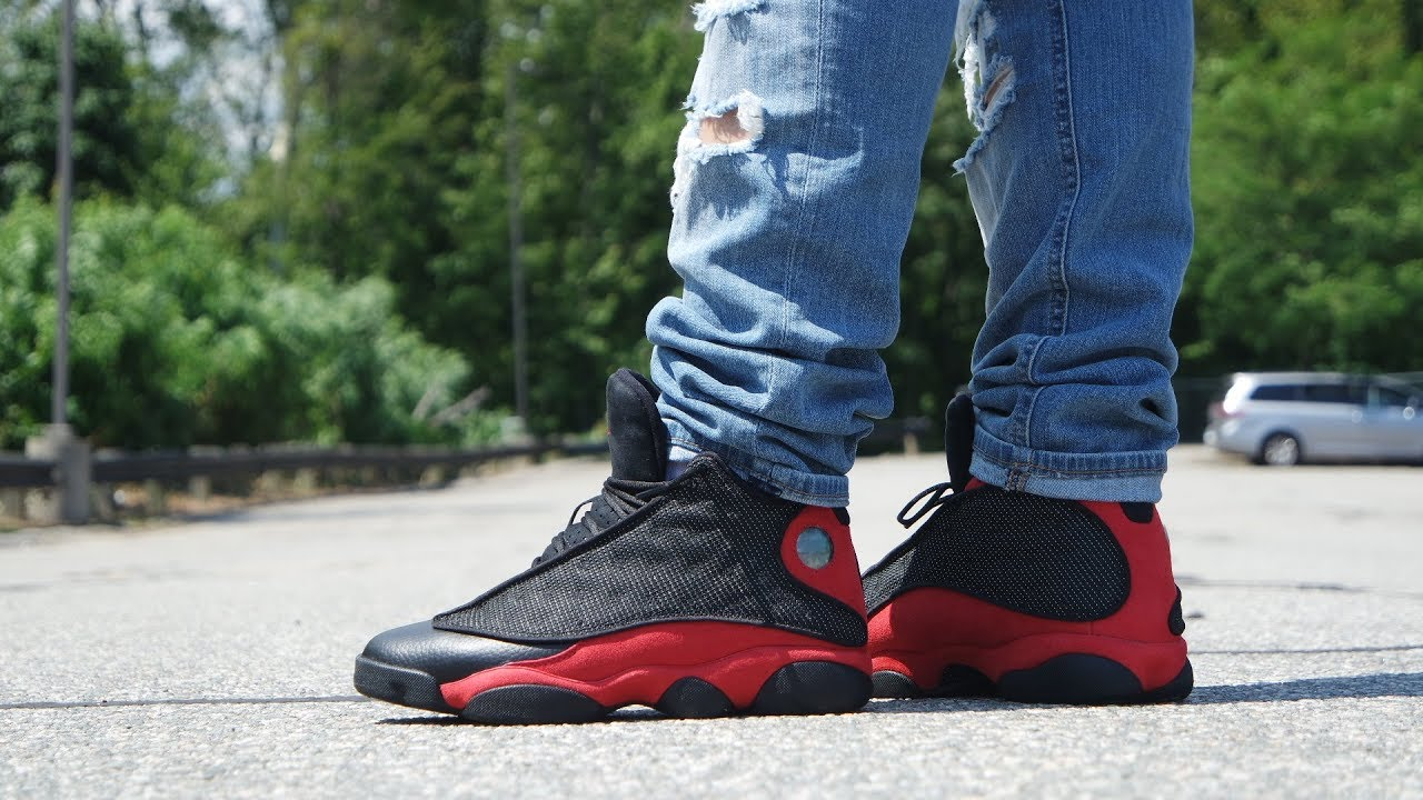 big sale 47e89 7b45e 2017 AIR JORDAN 13 BRED OG REVIEW   ON FEET!