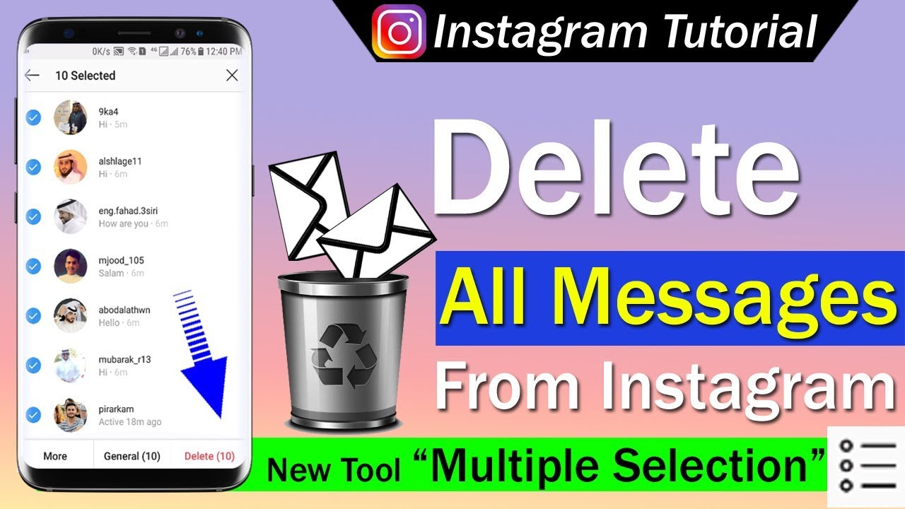 How To Delete All Messages From Instagram