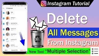 Delete direct on instagram