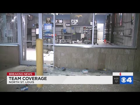 Family Dollar Store Damaged By Looters Overnight