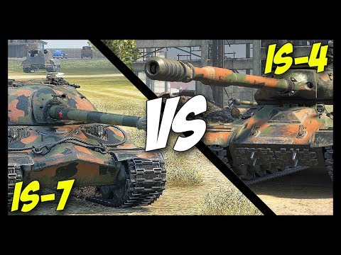 ► IS-7 vs IS-4, Which is The Best? - World of Tanks IS-4 & IS-7 Gameplay thumbnail