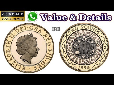 Two Pounds 1998 Elizabeth II | Old Coins | Old Coins Value | Old Coins Tamil | Antique Box