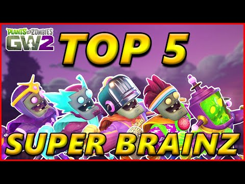 TOP 5 SUPER BRAINZ - Plants vs Zombies Garden Warfare 2